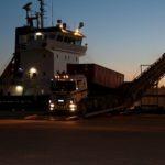 Погрузка судна в ночное время